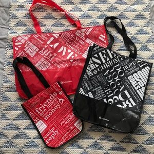 Lululemon Shopper Bag Bundle Small Medium Large